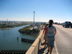 Walking Over the Bridge