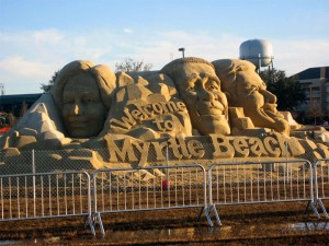 Democratic Candidate Sand Sculptures